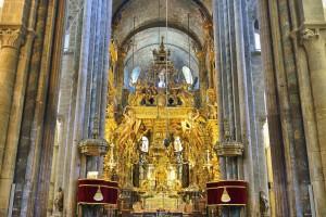 Interior of Cathedral of Santiago de Compostela